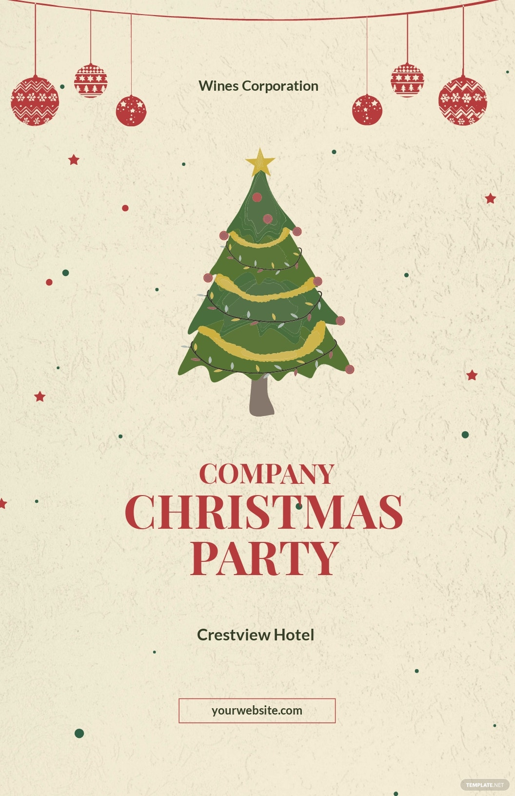 Free Simple Christmas Poster Template.jpe
