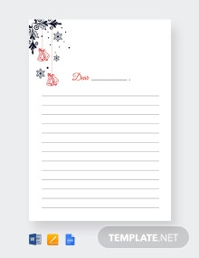 Free Christmas Bells Writing Paper Lined Template