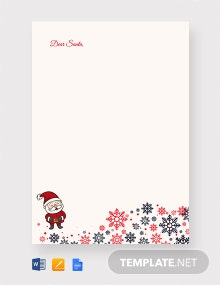 Free Santa Christmas Letter Template