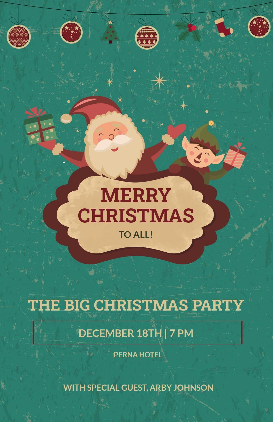 Free Elegant Christmas Poster Template