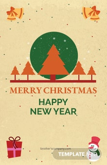 Free Merry Christmas and New Year Poster Template