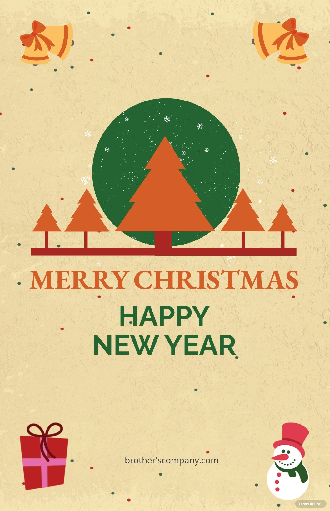 Free Merry Christmas and New Year Poster Template.jpe