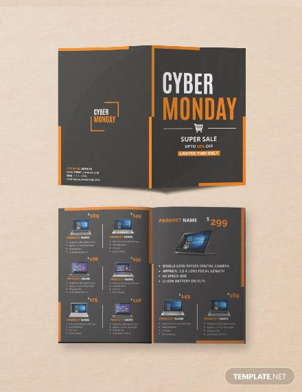 Free Cyber Monday Brochure Template