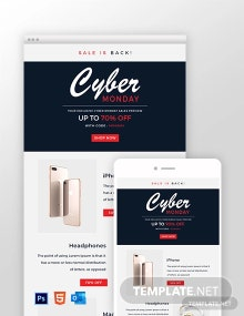 Free Cyber Monday Email Template