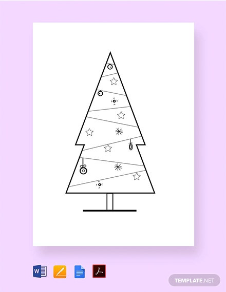 Christmas Tree Craft Pattern Template
