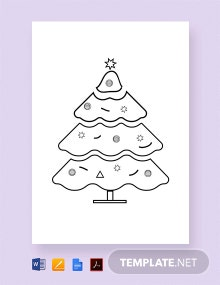 Free Decorated Christmas Tree Template