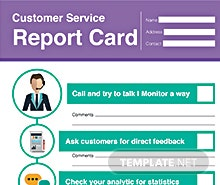 Free Customer Service Report Card Template
