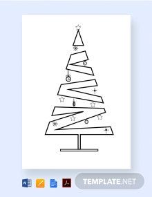Free Layered Christmas Tree Template