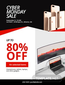 Free Cyber Monday Discount Flyer Template