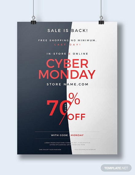 Free Cyber Monday Poster Template