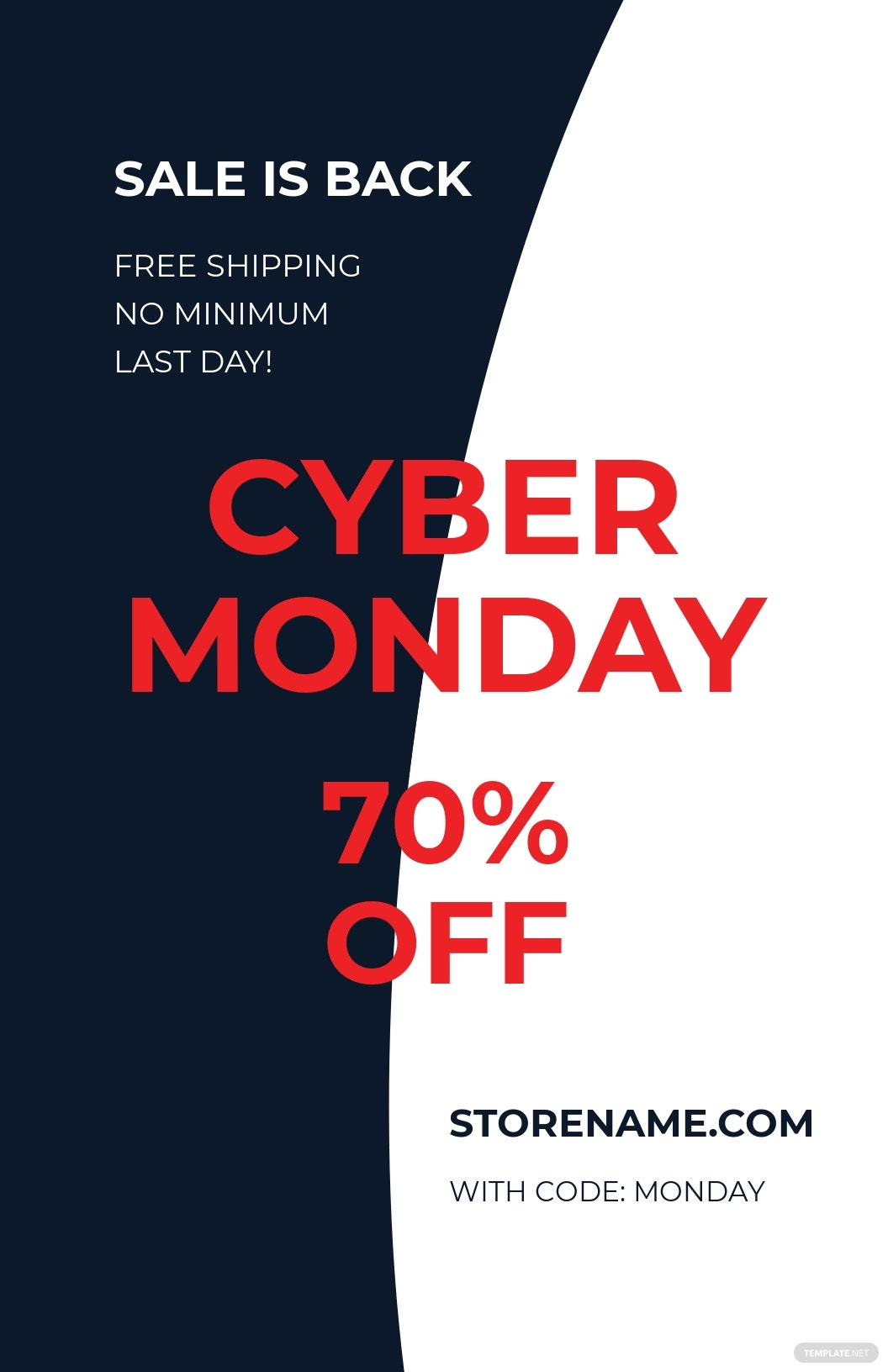 Cyber Monday Poster Template