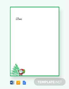 Free Christmas Tree Paper Template