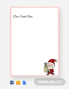 Free Santa Claus Christmas Letter