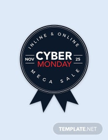 Free Cyber Monday Badge Design Template