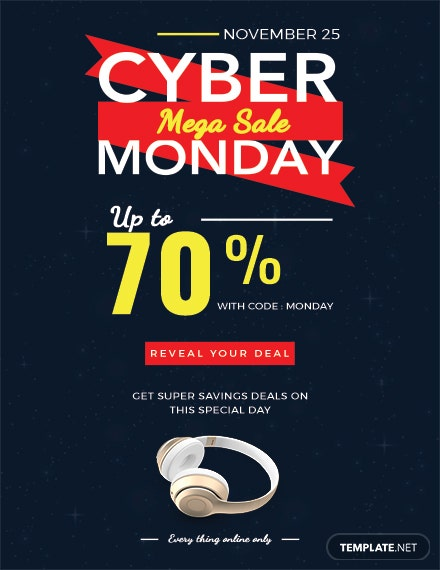 Free Cyber Monday Flyer Template