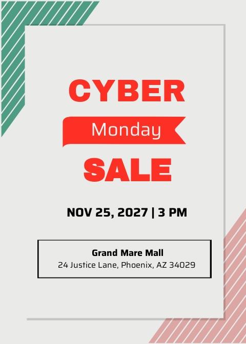 Cyber Monday Invitation Design template
