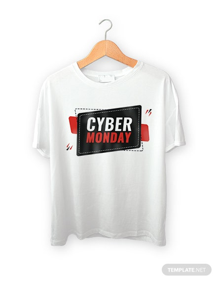 Free Cyber Monday T-shirt Design Template