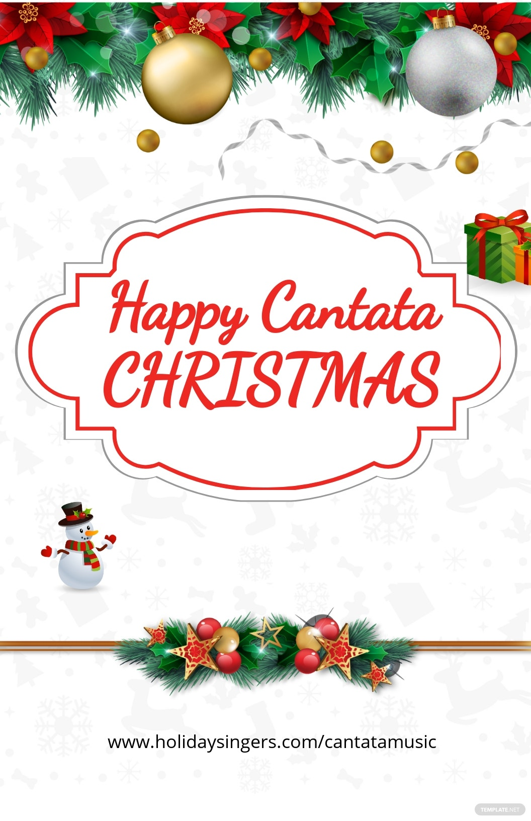 Cantata Christmas Poster Template