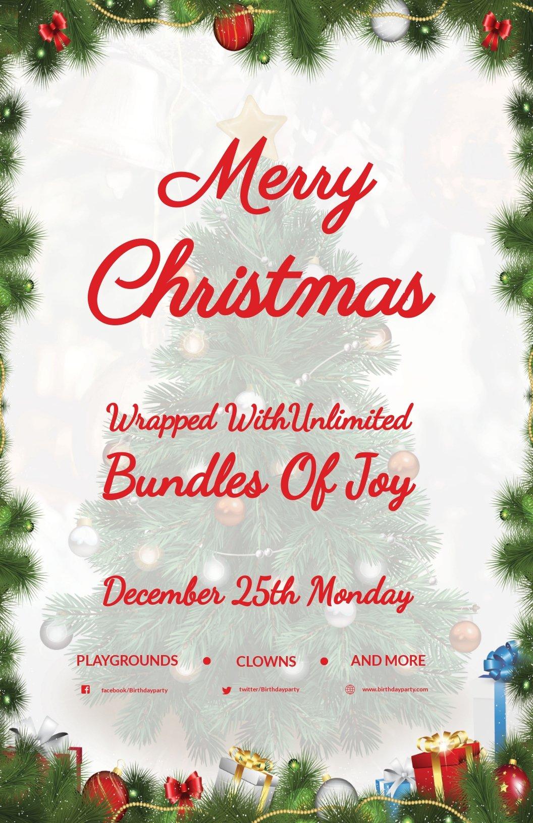 Snowflakes Christmas Poster Template