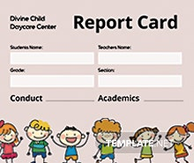 Free Daycare Report Card Template