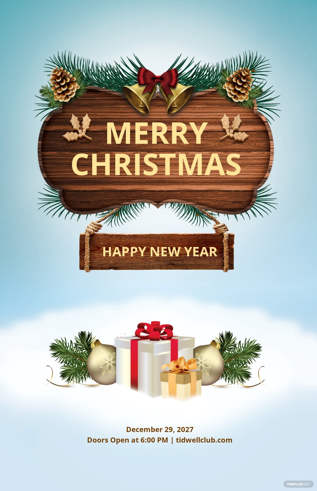 Free Christmas and New Year Poster Template.jpe