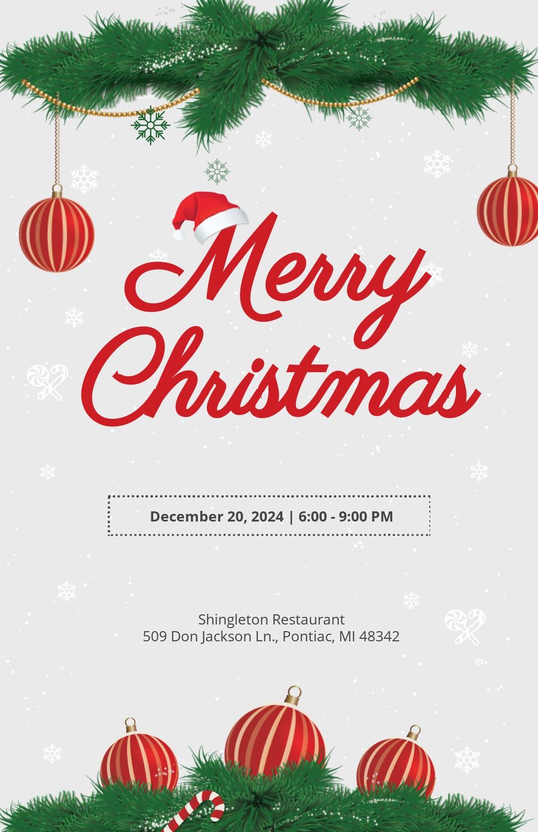 Modern Christmas Poster Template