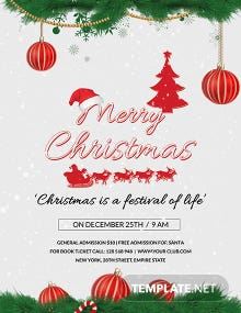 Free Modern Christmas Poster Template