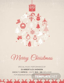 Free Christmas Day Poster Template