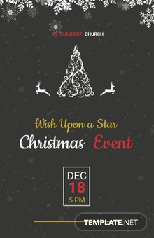 Free Chalkboard Christmas Poster Template