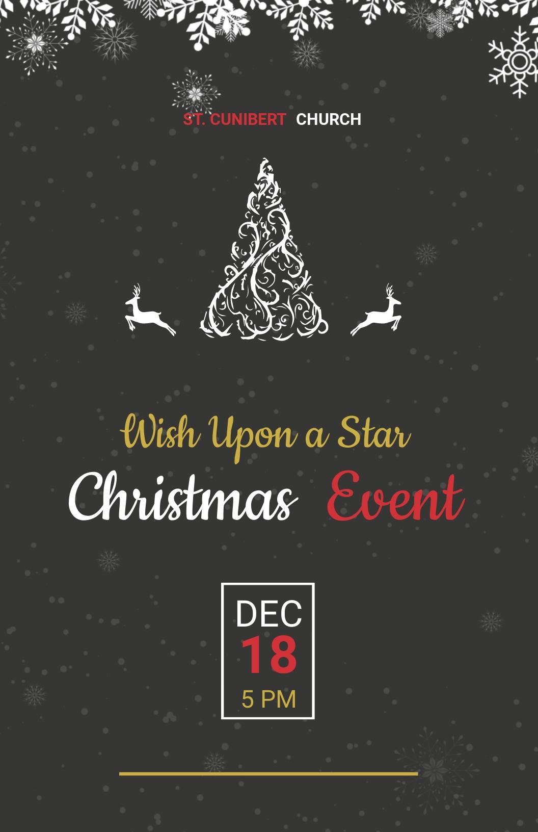 Free Chalkboard Christmas Poster Template.jpe
