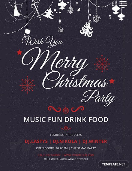 Elegant Christmas Party Poster