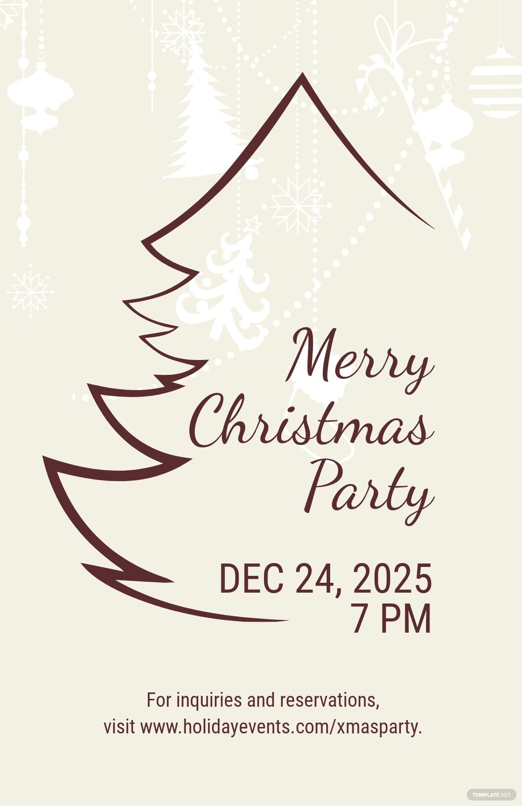 Christmas Restaurant Poster Template