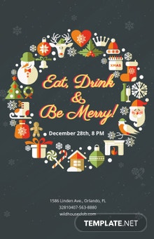 Free Modern Christmas Holiday Poster Template