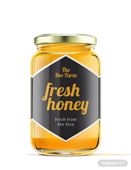 Free Honey Jar Label Template