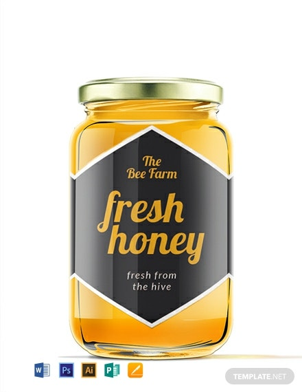 FREE Honey Jar Label Template: Download 205+ Labels in PSD, Word