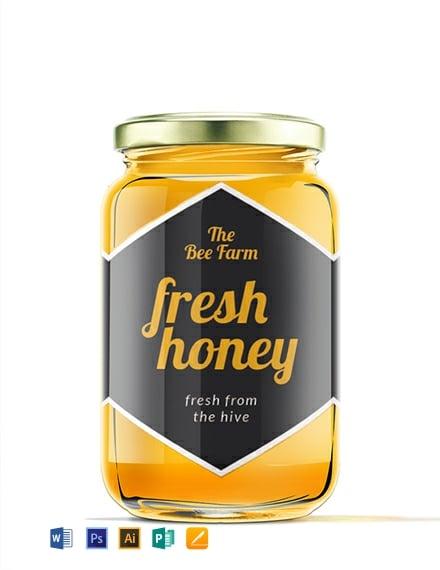 Free Honey Jar Label Template