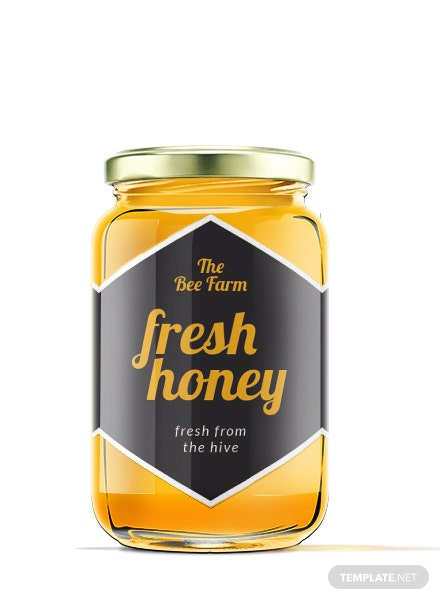 free honey jar label template  download 118  labels in psd