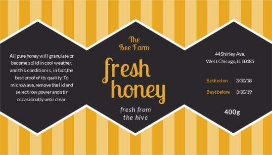 Honey Jar Label Template