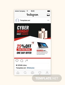Free Cyber Monday Instagram Sale Template