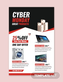 Free Cyber Monday Sale Tumblr Post Template