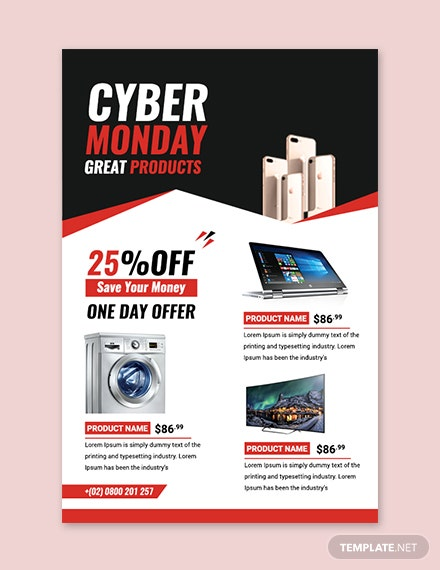 Free Cyber Monday Sale Twitter Post Template