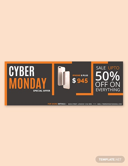 Free Cyber Monday Facebook Cover Template