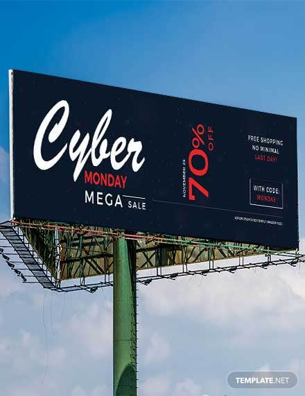 Free Cyber Monday Billboard Banner