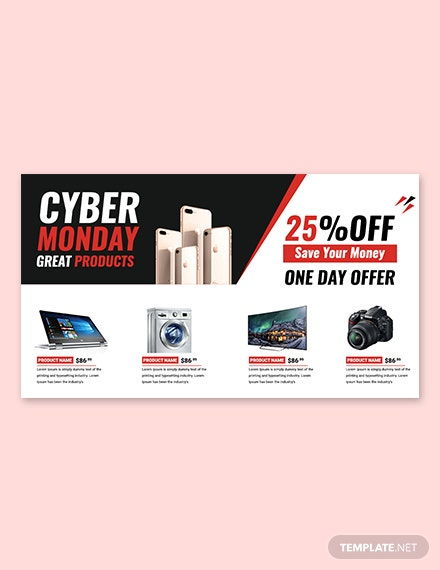 Cyber Monday Google+ Cover Template