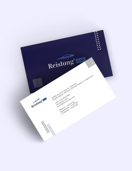Auto Dealer Business Card Template
