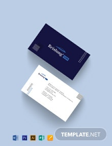 Auto Dealer Business Card Template