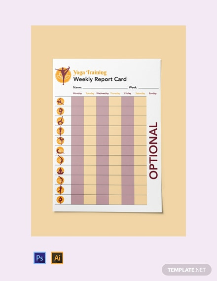 Free Training Report Card Template