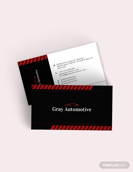Auto Repair Business Card Template