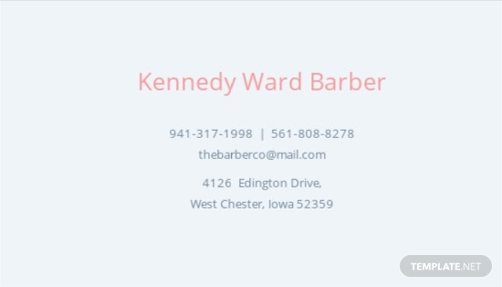 Barber Business Card Template [Free JPG] - Illustrator, Word, Apple Pages, PSD, Publisher