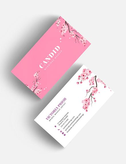 Bridal Makeup Artist Business Card Download